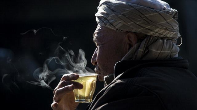 AFGHANISTAN-WEATHER-WINTER-TEA